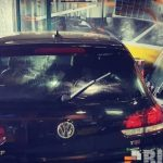 Pose de films solaires sur cette VW.